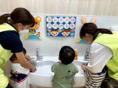 ぴーまん保育園弘明寺 手洗い
